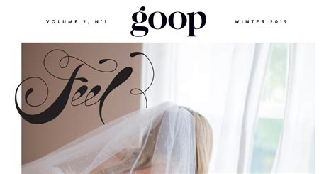 Goop Gwyneth Paltrow Cover by Gwyneth Paltrow Covers Goop Magazine In Her Wedding