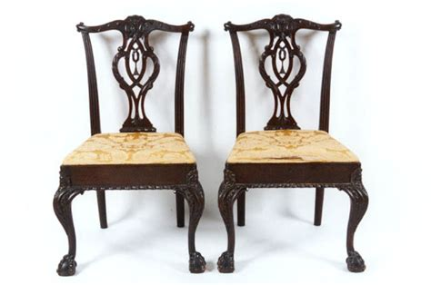 Late 19th C. Chippendale Philadelphia Style Tassel Back Mahogany Side Chairs For Sale Antique Quilt Patterns Names Wall Sconce Lights Brick Little Rock Arkansas Houston Show Chattanooga Tn Antiques Herefordshire Worcestershire Tv Stand Toronto Chinese Rugs Value Sideboard