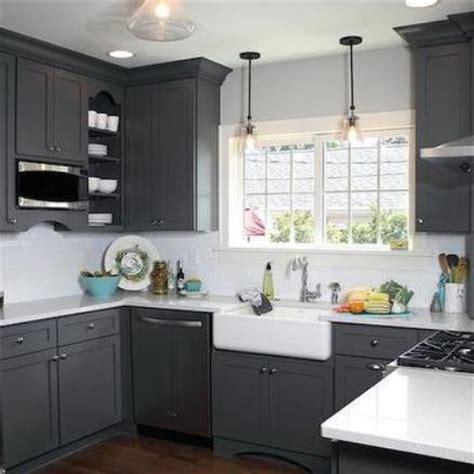 Corner Kitchen Island Dark Grey Kitchen Cabinets Home Design