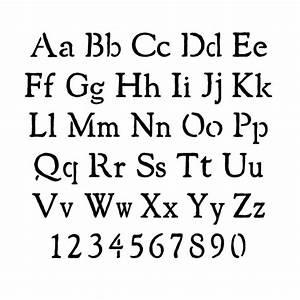 Stencils alphabet stencils rustic lettering stencils for Rustic letter stencils