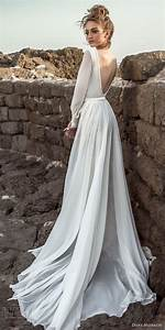 picture of a sleek wedding dress with long sleeves an With long sleek wedding dresses