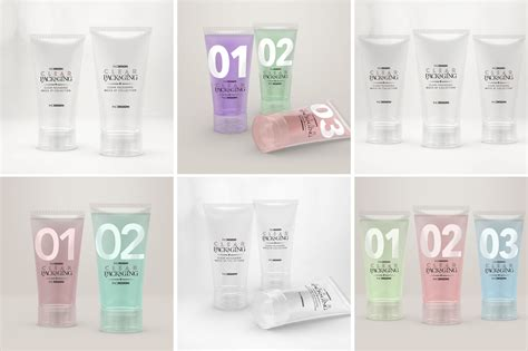Free all free mockups devices & computers. Clear Cosmetic Tube Mockups By INC Design Studio ...