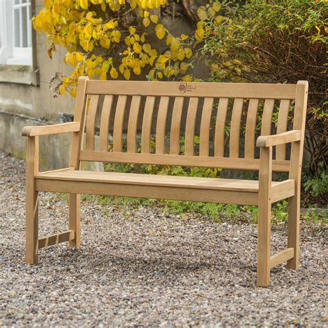 rhs wisley ft teak bench   garden