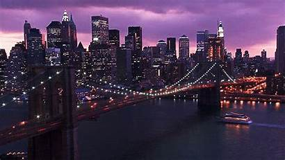 York Night Animated Bridge Ago Years Lights