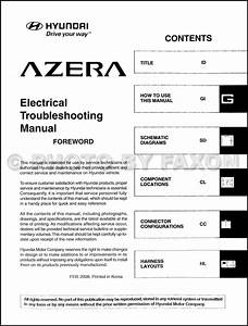 2009 Hyundai Azera Electrical Troubleshooting Manual Original