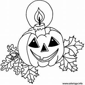 Citrouille D Halloween Dessin : coloriage une bougie sur la citrouille d halloween ~ Nature-et-papiers.com Idées de Décoration
