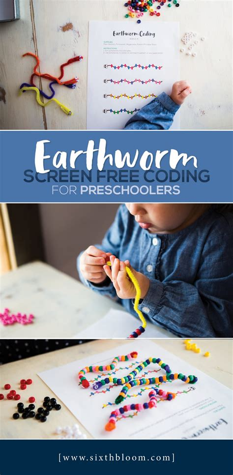 earthworm screen  coding  preschoolers sixth