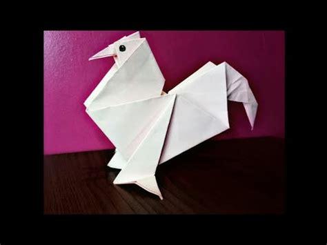 membuat origami ayam mudah origami chicken youtube