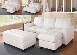 Faux leather sectional sofa with chaise buchannan faux for Buchannan microfiber sectional sofa with reversible chaise