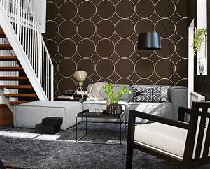Tapete Mit Kreisen : braune tapete bilder ideen couchstyle ~ Orissabook.com Haus und Dekorationen