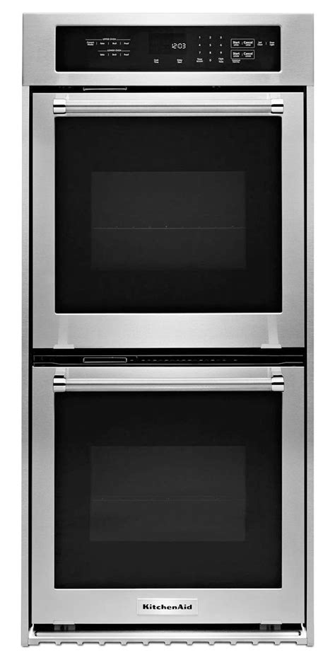 kitchenaid  stainless double wall oven kodcess