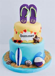 Summer Swiming Cake Pinterest - Fondant Cake Images