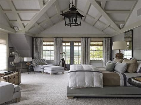 country style room decor master bedroom vaulted ceiling