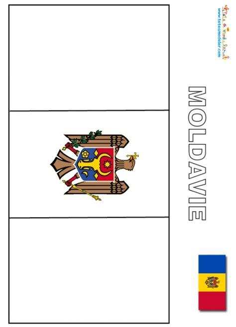 coloriage du drapeau de la moldavie les drapeaux du