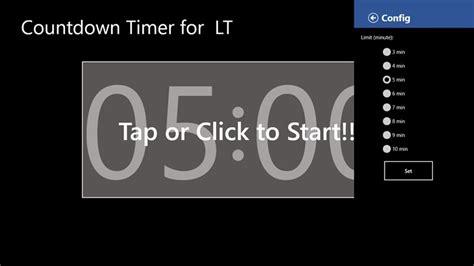 countdown timer lt windows