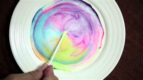 science fun  milk food coloring  dish soap youtube
