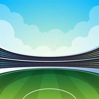 Cricket Stadium Vector Illustration Clipart Vecteezy Players
