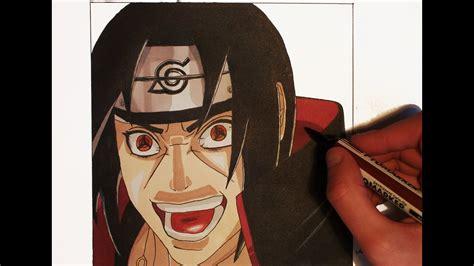 drawing itachi uchiwa naruto mrerua youtube