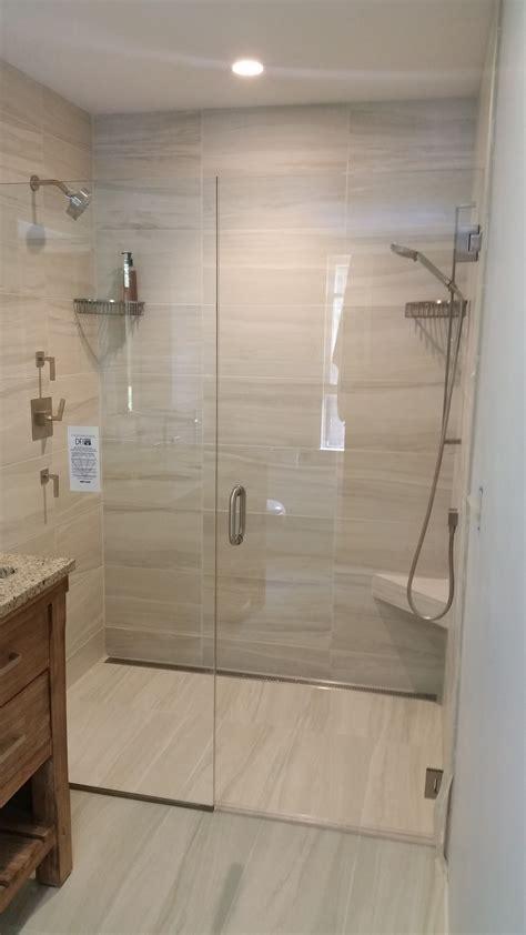 curbless shower installation  valley floors