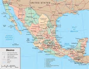 Map of Mexico States Regional - Map of Mexico Regional Political ... Mexico