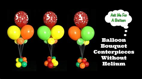 how to make a balloon balloon bouquet centerpieces without helium youtube
