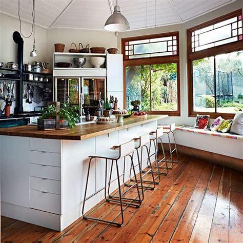 white kitchen  window seat kitchen decorating