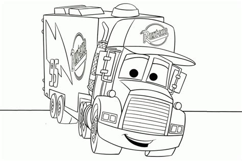 tractor trailer coloring pages coloring home