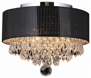 Gatsby light crystal flush mount ceiling with
