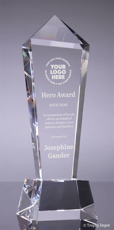 Crystal Monument Award - 11.5 inch
