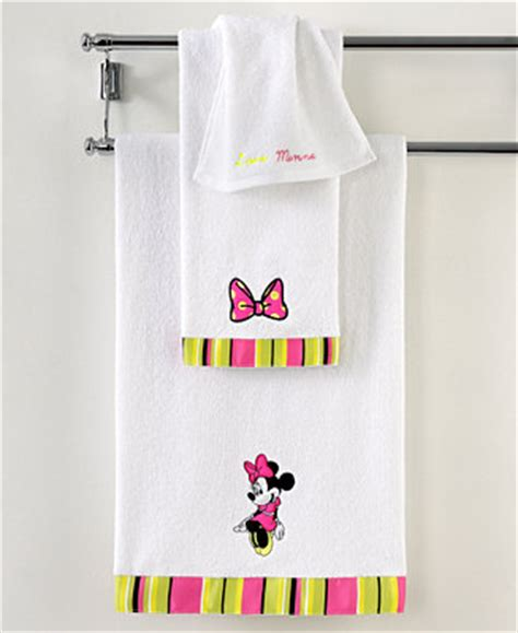 macys mickey mouse bathroom set disney bath towels neon minnie collection bath towels