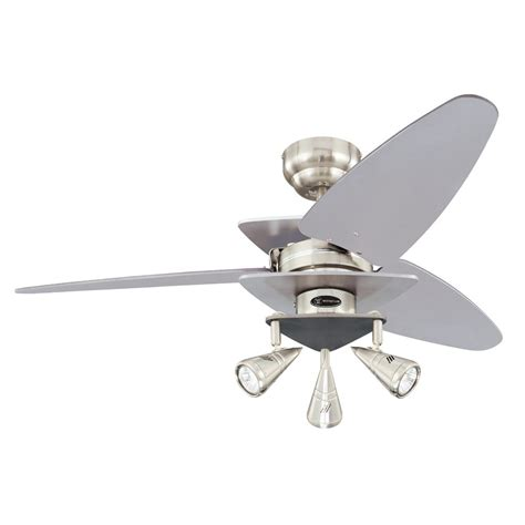 42 inch ceiling fan with light westinghouse lighting 7850700 vector elite three light 42