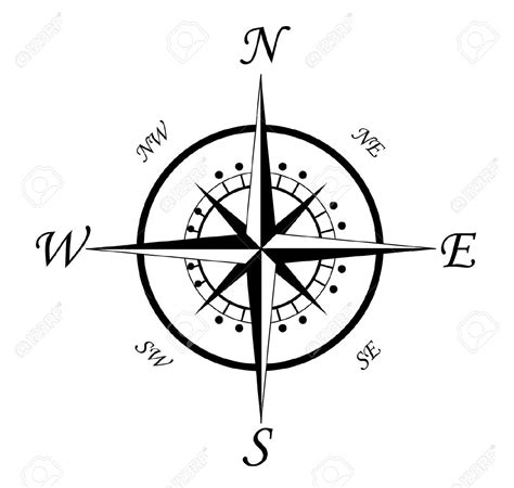 compass black and white black and white compass clipart clipground