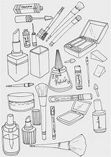 Coloring Makeup Colouring Sheets Eyeliner Been Say sketch template