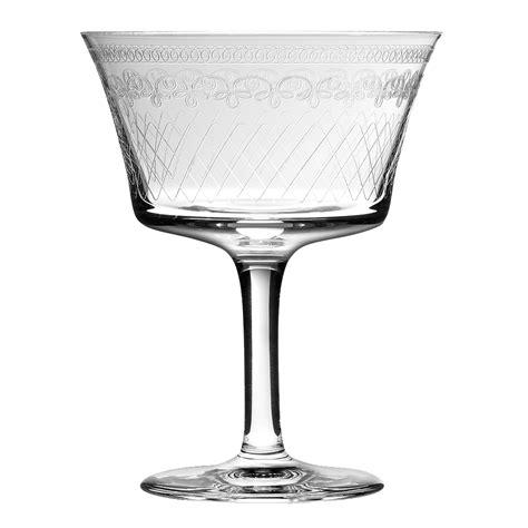 vintage cocktail retro fizz 1910 cocktail glass 20cl vintage stemware