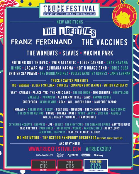 Ten Acts We Can't Wait To See At Truck Festival 2017