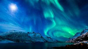 Full HD Wallpaper northern lights beautiful mountain ...