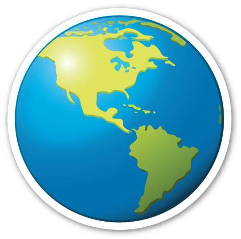 Earth Globe Americas Emojis de iphone Emojis