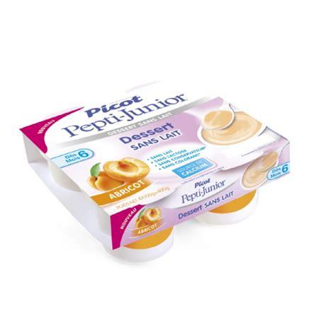 dessert lacte bebe 6 mois picot pepti junior dessert sans lait d 232 s 6 mois 4x100g abricot pharma2m