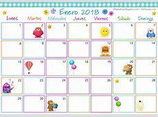 Calendario Multicolor Enero 2018, Calendario Multicolor