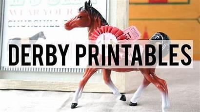Derby Printables Kentucky Templates Christmas Tag Dot