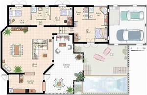 Plan Grande Maison : plan d une grande maison contemporaine tail du de homewreckr co familiale 3 chambres plans ~ Melissatoandfro.com Idées de Décoration