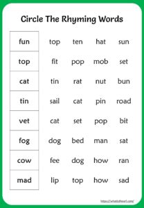 rhyming words worksheet   grade  home teacher