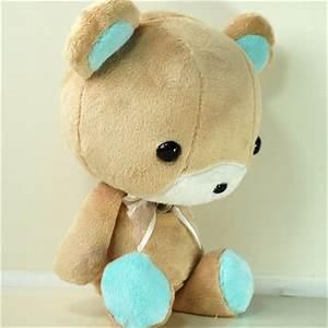Cute Bellzi Stuffed Animal Brown w/ Teal from BellziPlushie on