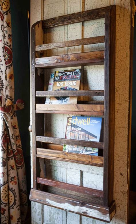 magazine rack wall wall mounted wood magazine rack woodworking projects plans