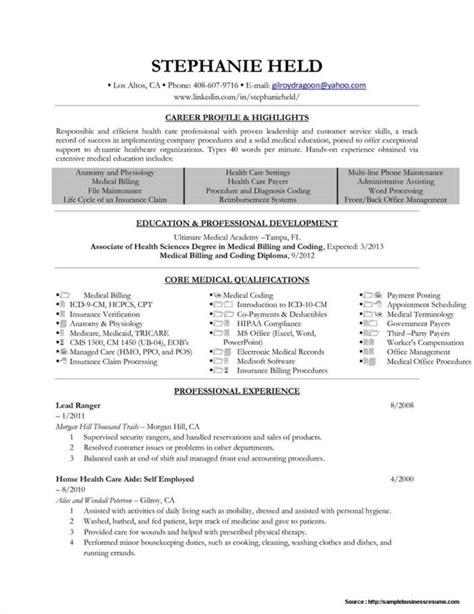 resume for billing resume resume exles