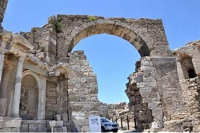 Side Monumental Vespasian Monument Gate Turkish