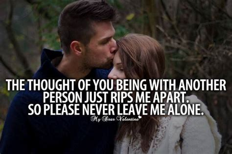 Never Leave Me Quotes For Her
