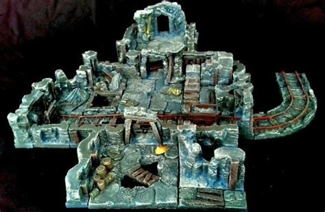 3d dungeon tiles kickstarter new rpg tablescapes terrain kickstarter spikey bits