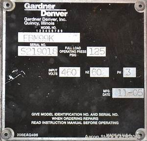 Gardner Denver Electra Screw Manual