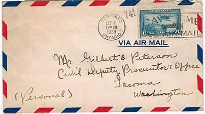 Mail Air Toronto Letters 1930s Handstamps History